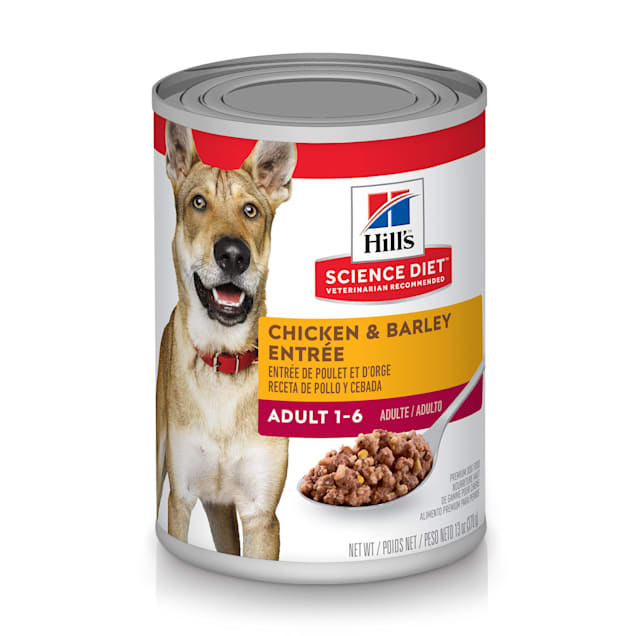 Hill's Science Diet Adult Chicken & Barley Entree Canned Dog Food, 13 oz., Case of 12 - Carousel image #1
