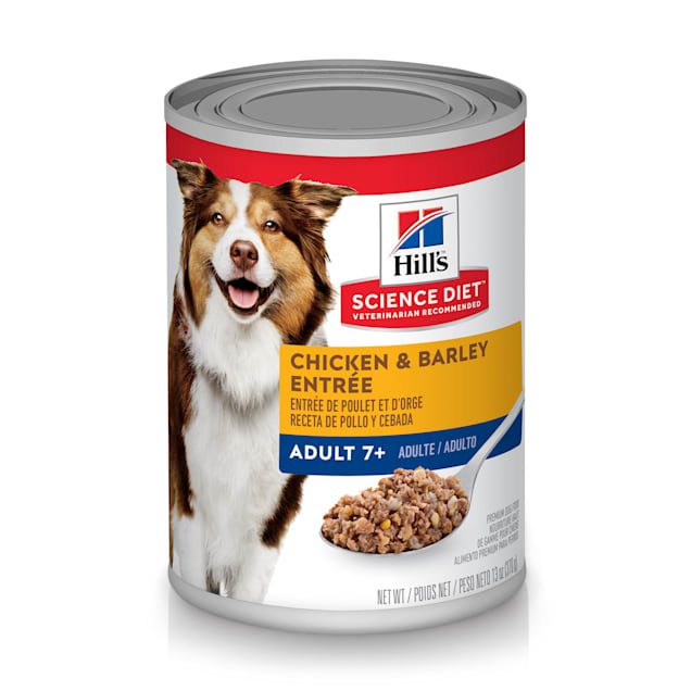 Hill's Science Diet Adult 7+ Chicken & Barley Entree Canned Dog Food, 13 oz., Case of 12 - Carousel image #1