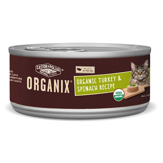 Castor & Pollux Organix Organic Turkey & Spinach Recipe Wet Cat Food, 5.5 oz. - Carousel image #1