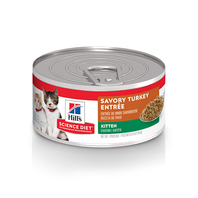 Hill's Science Diet Savory Turkey Entree Canned Kitten Food, 5.5 oz., Case of 24 - Carousel image #1