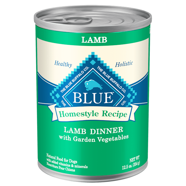 Blue Buffalo Blue Homestyle Recipe Lamb Dinner with Garden Vegetables Wet Dog Food, 12.5 oz., Case of 12 - Carousel image #1