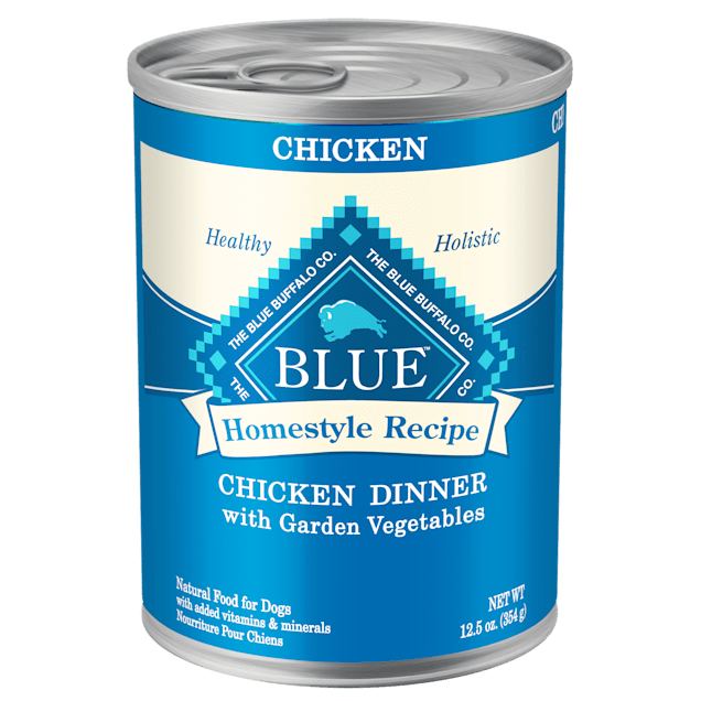 Blue Buffalo Blue Homestyle Recipe Chicken Dinner with Garden Vegetables Adult Dog Food, 12.5 oz., Case of 12 - Carousel image #1