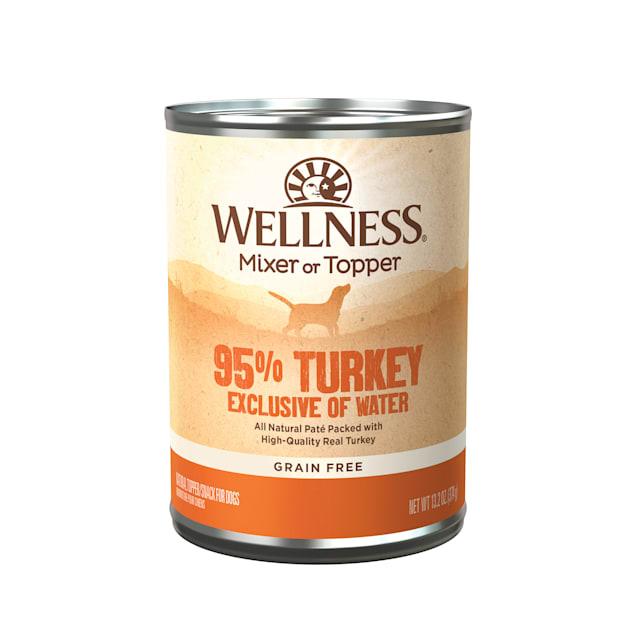 Wellness Natural Grain Free 95-Percent Turkey Recipe Wet Dog Food, 13.2 oz., Case of 12 - Carousel image #1