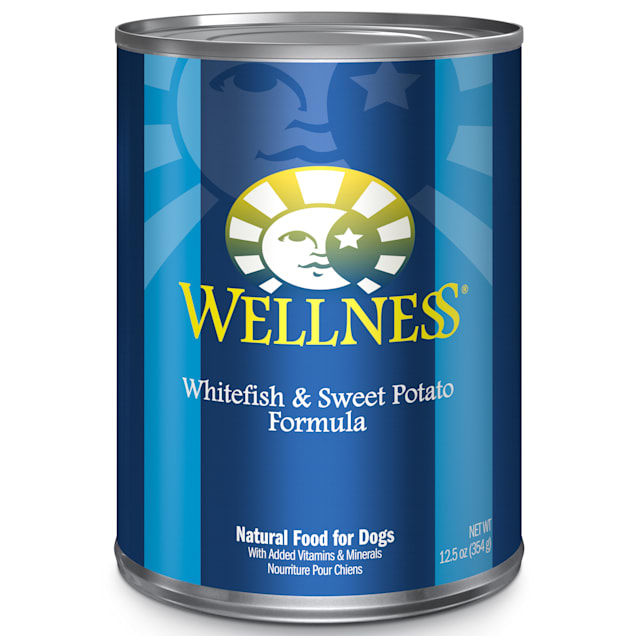 Wellness Complete Health Natural Whitefish and Sweet Potato Recipe Wet Dog Food, 12.5 oz., Case of 12 - Carousel image #1