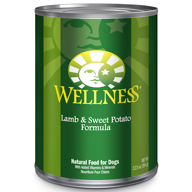 Wellness Complete Health Natural Lamb & Sweet Potato Canned Dog Food, 12.5 oz., Case of 12 - Carousel image #1