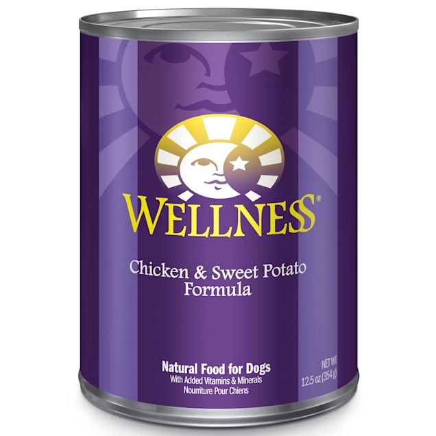 Wellness Chicken & Sweet Potato Canned Dog Food, 12.5 oz., Case of 12 - Carousel image #1