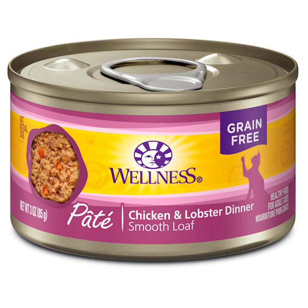 Wellness Complete Health Natural Grain Free Wet Cat Food,Chicken & Lobster Pate, 3 oz., Case of 24 - Carousel image #1