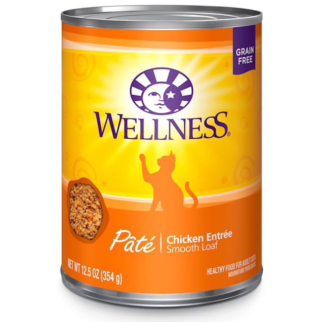 Wellness Complete Health Natural Grain Free Chicken Pate Wet Cat Food, 12.5 oz., Case of 12 - Carousel image #1