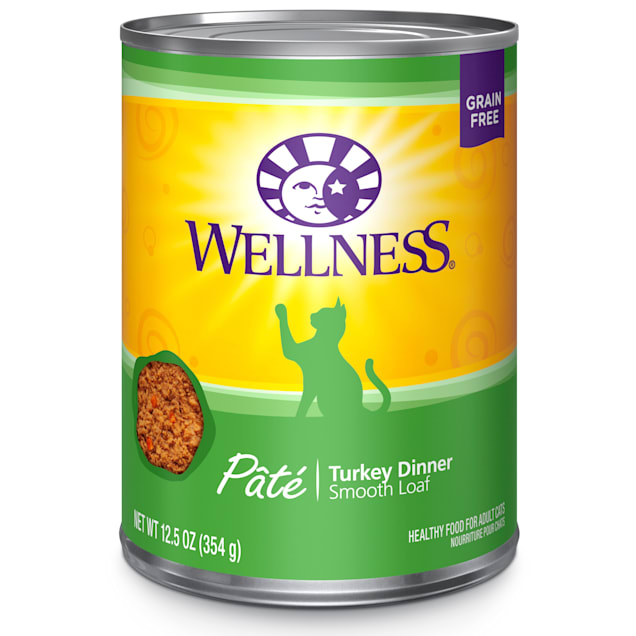 Wellness Complete Health Natural Grain Free Turkey Pate Wet Cat Food, 12.5 oz., Case of 12 - Carousel image #1