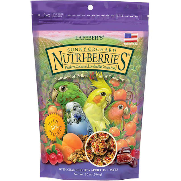 Lafeber's Sunny Orchard Nutri-Berries Keet, Tiel, Lovebird & Conure Food - Carousel image #1