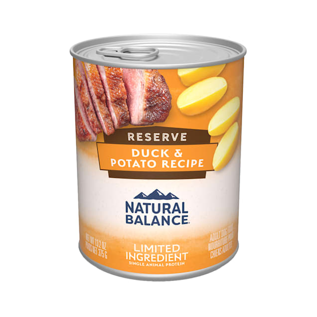Natural Balance L.I.D. Limited Ingredient Diets Duck & Potato Formula Wet Dog Food, 13.2 oz., Case of 12 - Carousel image #1