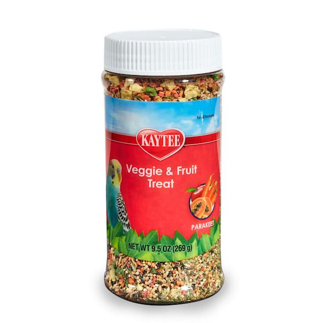 Kaytee Fruit and Veggie Treat Jar for Parakeet, 9.5 oz. - Carousel image #1