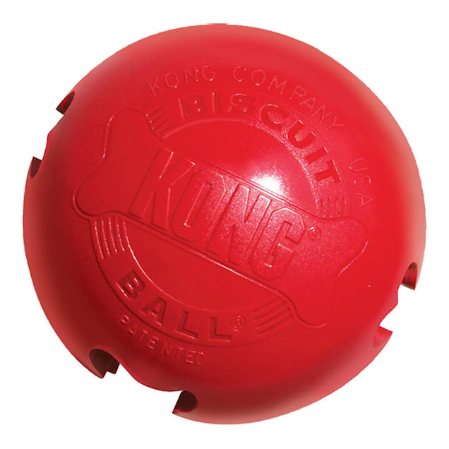 KONG Biscuit Ball Dog Toy, Large - Carousel image #1