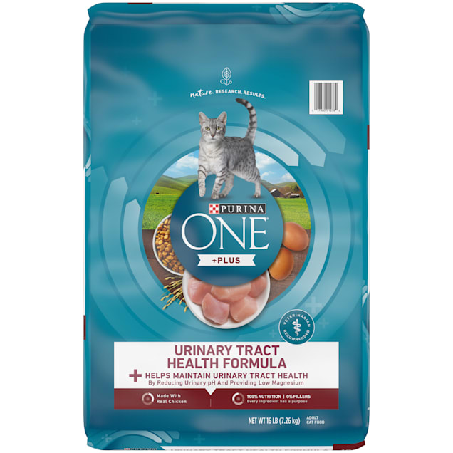 Purina ONE High Protein Urinary Tract Health Formula Adult Dry Cat Food, 16 lbs. - Carousel image #1