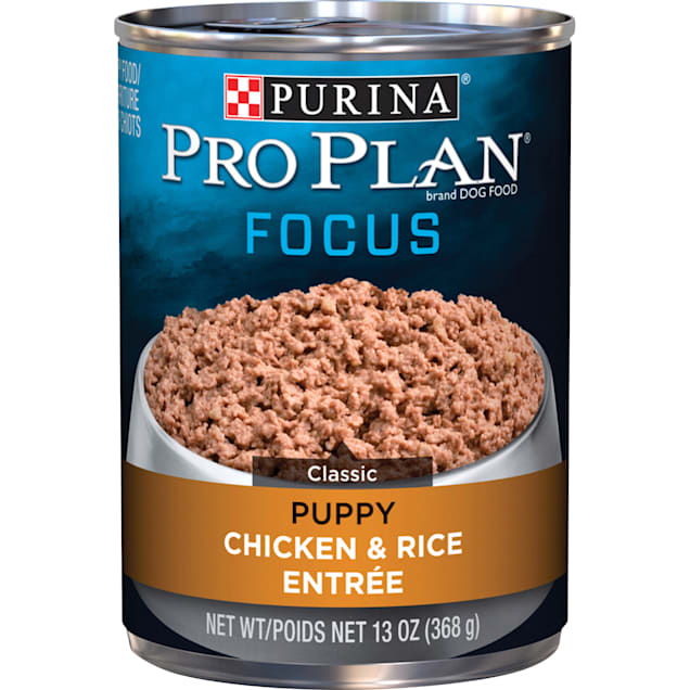 Purina Pro Plan Pate FOCUS Classic Chicken & Rice Entree Wet Puppy Food, 13 oz., Case of 12 - Carousel image #1