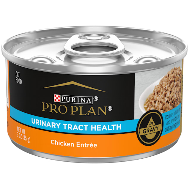 Purina Pro Plan Focus Urinary Tract Health Formula Chicken Entree Gravy Wet Cat Food, 3 oz., Case of 24 - Carousel image #1