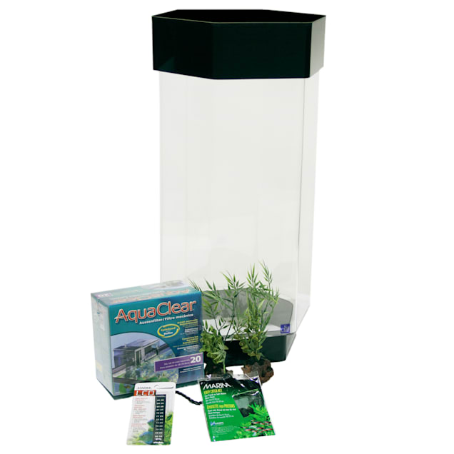 SeaClear 8 Gallon Hex Deluxe Mini-Kit, Clear - Carousel image #1