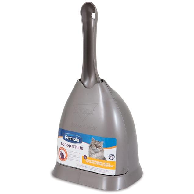"Petmate Scoop 'n Hide Titanium Cat Litter Scoop, 6"" L X 5"" W X 12"" H - Carousel image #1"