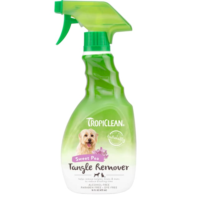 TropiClean Sweet Pea Tangle Remover Spray for Pets, 16 fl. oz. - Carousel image #1