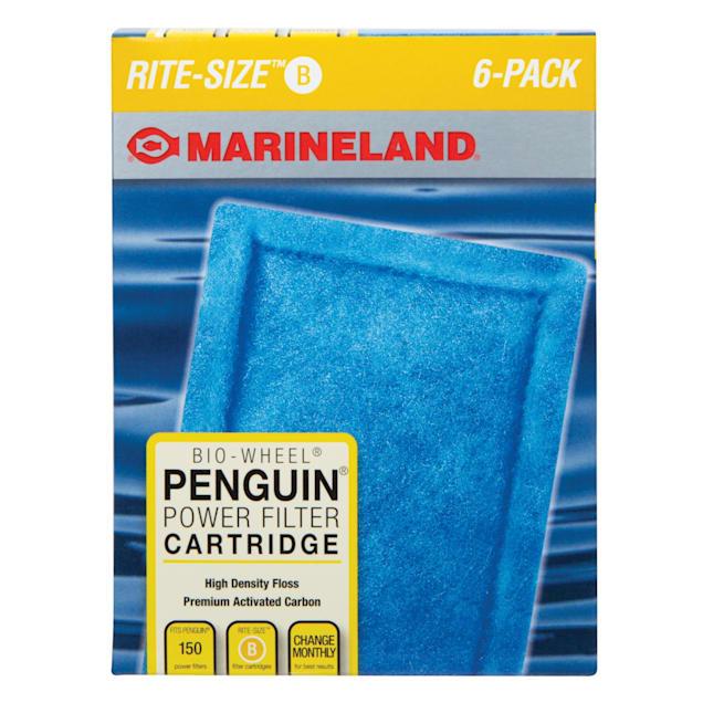 Marineland Rite Size B Penguin Power Filter Replacement Cartridge, Pack of 6 - Carousel image #1