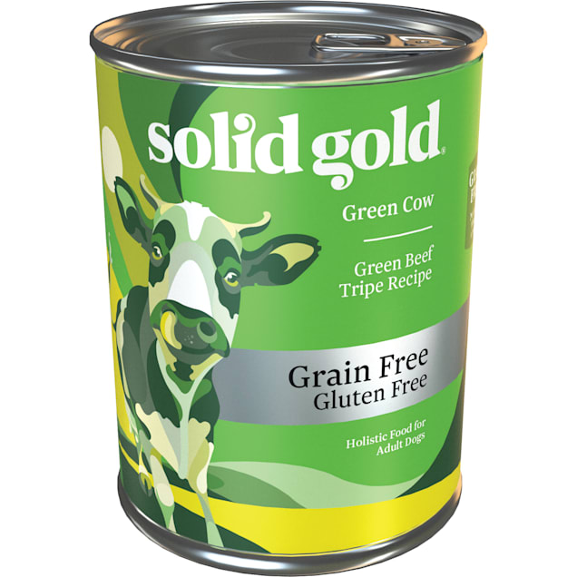 Solid Gold Green Cow Green Beef Tripe Grain Free Adult Canned Dog Food, 13.2 oz., Case of 6 - Carousel image #1