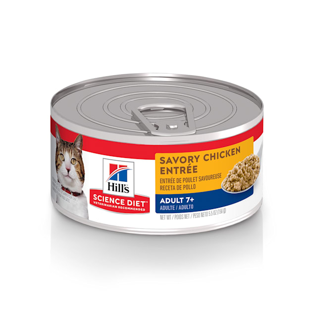 Hill's Science Diet Adult 7+ Savory Chicken Entree Canned Cat Food, 5.5 oz., Case of 24 - Carousel image #1