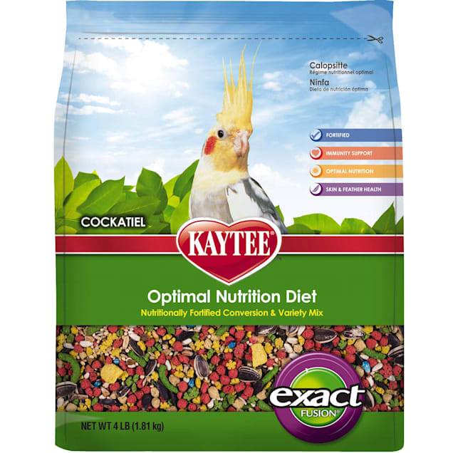 Kaytee Exact Fusion Optimal Nutrition Diet for Cockatiels, 4lbs. - Carousel image #1