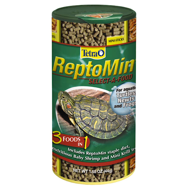 Tetra Reptomin Select-A-Food For Aquatic Turtles, Newts and Frogs, Variety Pack, 1.55 oz. - Carousel image #1