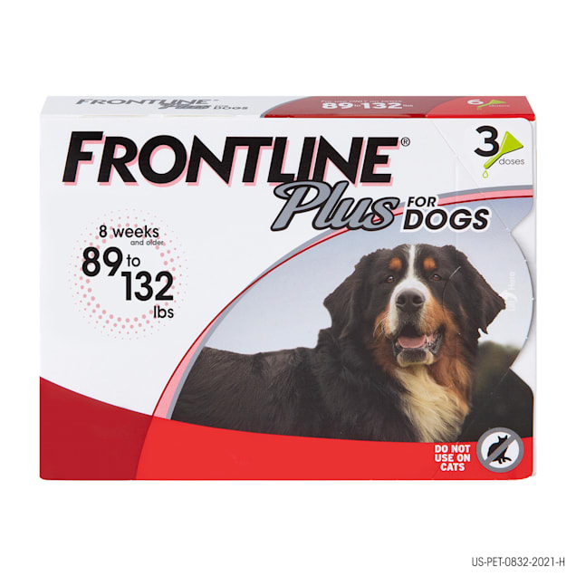 FRONTLINE Plus Flea and Tick Treatment for X-Large Dogs Up to 89 to 132 lbs., 3 Treatments - Carousel image #1