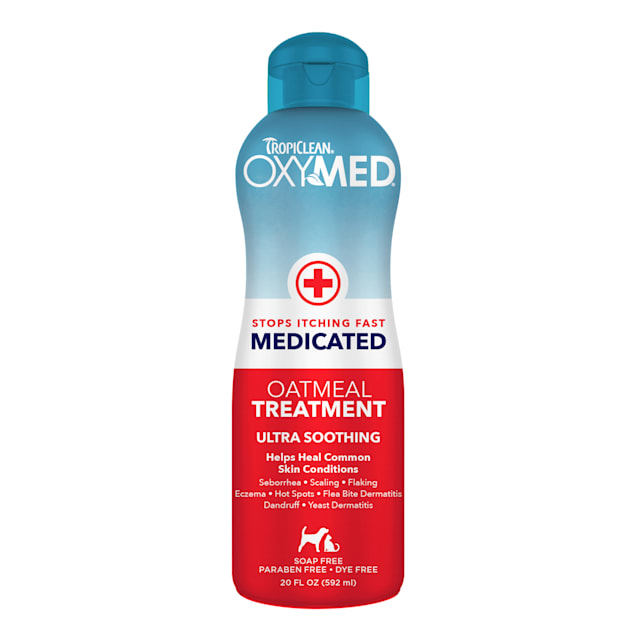 TropiClean OxyMed Medicated Oatmeal Rinse, 20 oz. - Carousel image #1