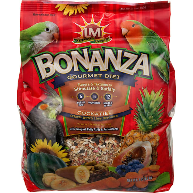 LM Animal Farms Bonanza Gourmet Diet Cockatiel Bird Food - Carousel image #1