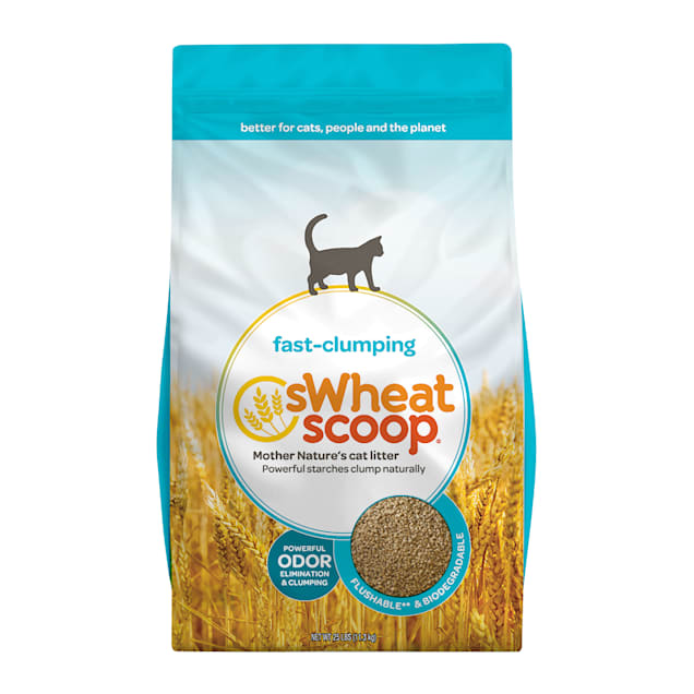 Swheat Scoop Unscented Natural Wheat Scoopable Cat Litter, 25 lbs. - Carousel image #1