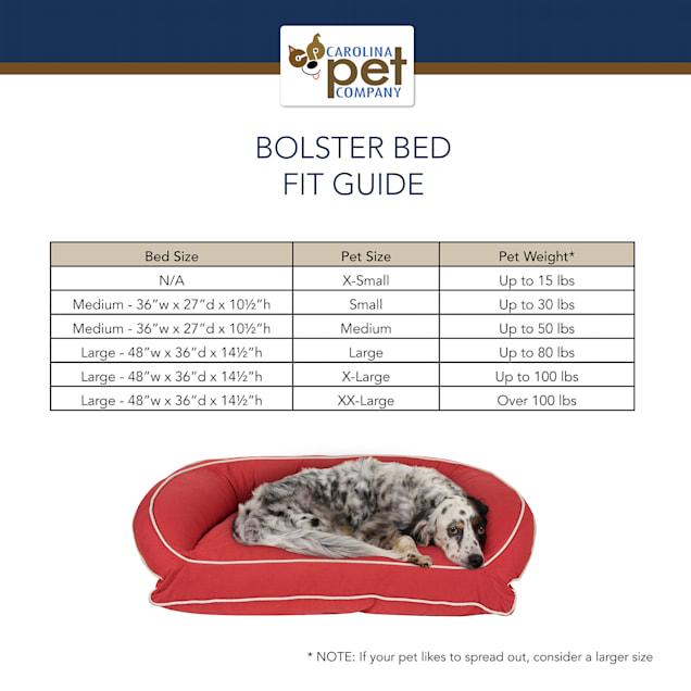 Carolina Pet Company Cream Microfiber Kuddler Lounge Dog Bed