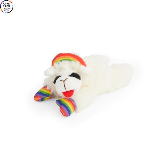 Multipet International Rainbow Lamb Chop Dog Toy, X-Small - Carousel image #1