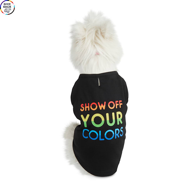 YOULY The Proudest Rainbow Show Off Your Colors Dog T-Shirt, X-Small - Carousel image #1