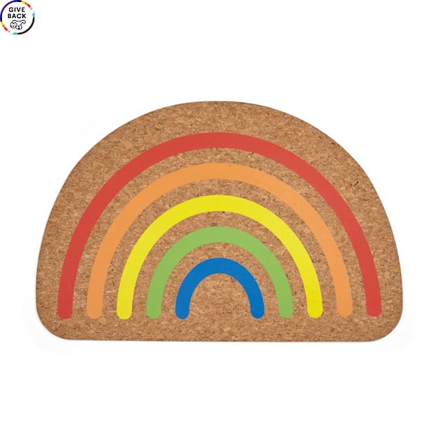"""YOULY The Proudest Rainbow Placemat, 17"""" L X 11"""" W - Carousel image #1"""