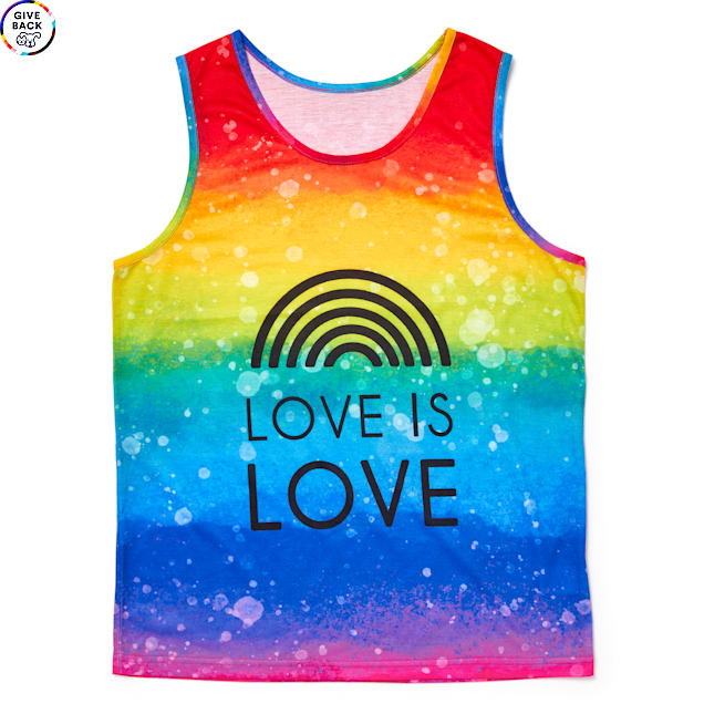 YOULY The Proudest Rainbow Love Is Love Human Tank Top, Small/Medium - Carousel image #1