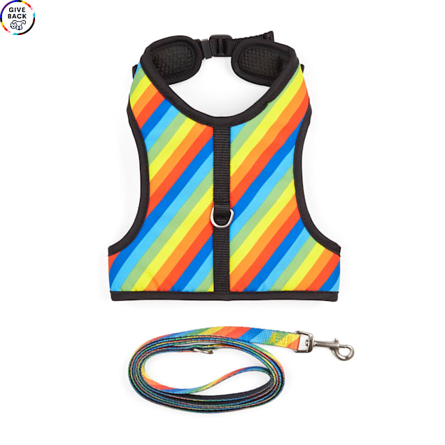 YOULY The Proudest Rainbow Cat Harness Set - Carousel image #1