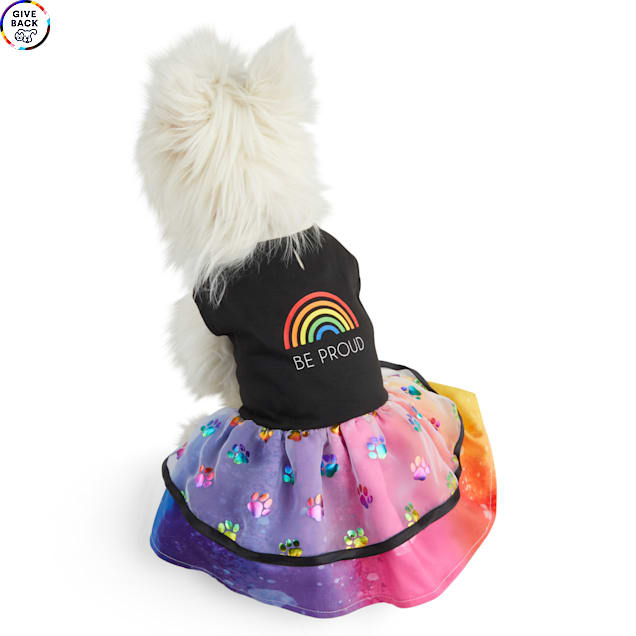 YOULY The Proudest Rainbow Be Proud Dog Dress, X-Small - Carousel image #1