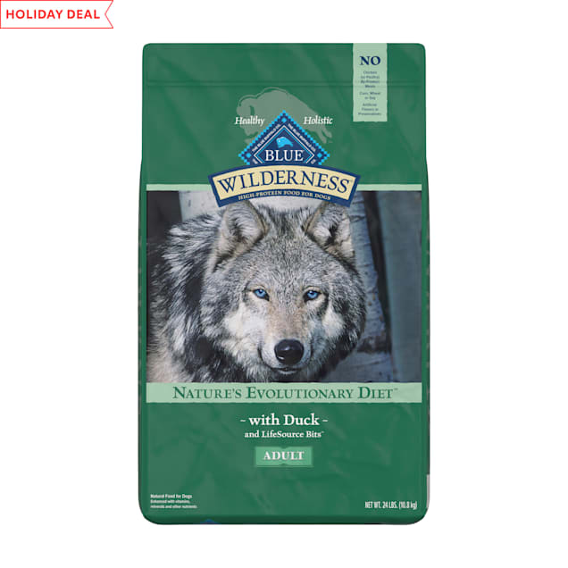 Blue Buffalo Wilderness Natural Adult High Protein Grain Free Duck Dry Dog Food, 24 lbs. - Carousel image #1