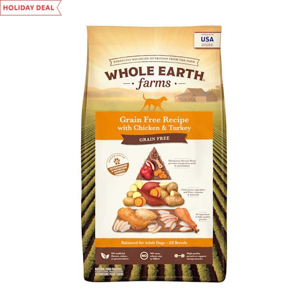 Whole Earth Farms Grain Free Recipe with Chicken & Turkey Dry Dog Food, 25 lbs. - Carousel image #1