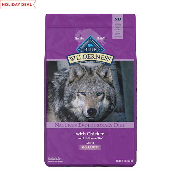 Blue Buffalo Blue Wilderness Adult Small Bite Chicken Recipe Dry Dog Food, 24 lbs. - Carousel image #1