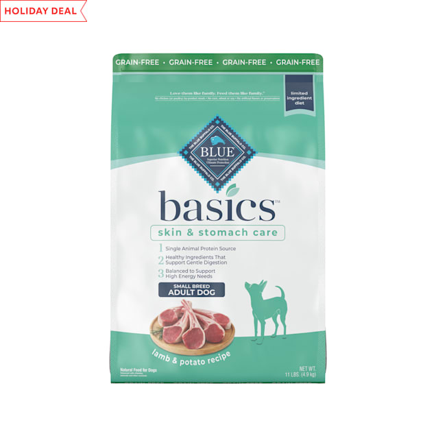 Blue Buffalo Blue Basics Grain-Free Lamb & Potato Recipe Small Breed Adult Dry Dog Food, 11 lbs. - Carousel image #1