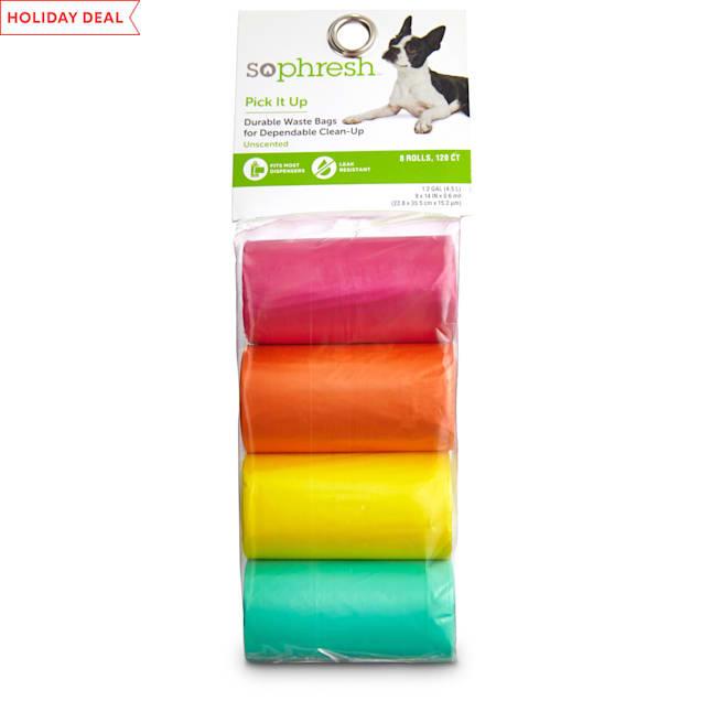 So Phresh Pick It Up Dog Waste Bags, Pink/Orange, 120 count - Carousel image #1