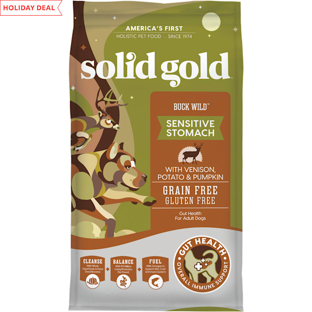 Solid Gold Buck Wild Venison, Potato and Pumpkin Dry Dog Food, 24 lbs. - Carousel image #1