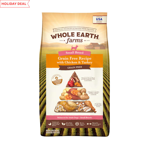 Whole Earth Farms Grain Free Small Breed Recipe with Chicken & Turkey Dry Dog Food, 12 lbs. - Carousel image #1