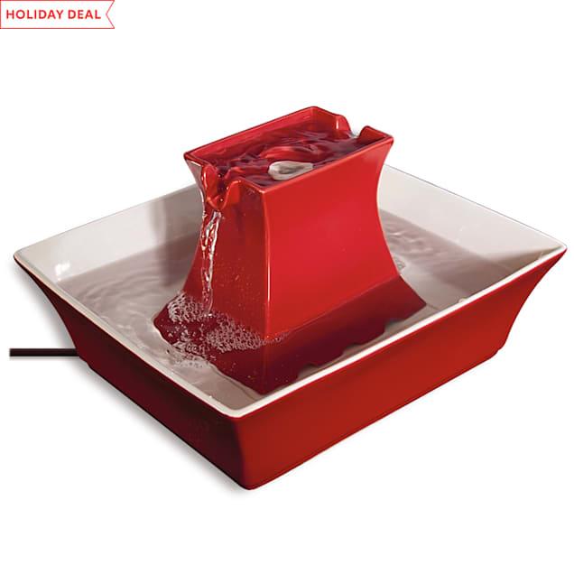 PetSafe Drinkwell Red Pagoda Fountain, 70 oz. - Carousel image #1