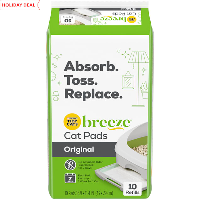 Purina Tidy Cats Breeze Cat Pads Refill Pack, 18.24 oz., Count of 10 - Carousel image #1
