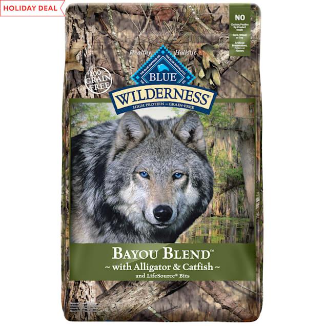 Blue Buffalo Blue Wilderness Bayou Blend with Alligator & Catfish Dry Dog Food, 22 lbs. - Carousel image #1