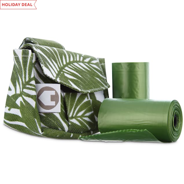 Pets on Safari Green Fabric Bag Dispensers and Refill Roll, 30 count - Carousel image #1
